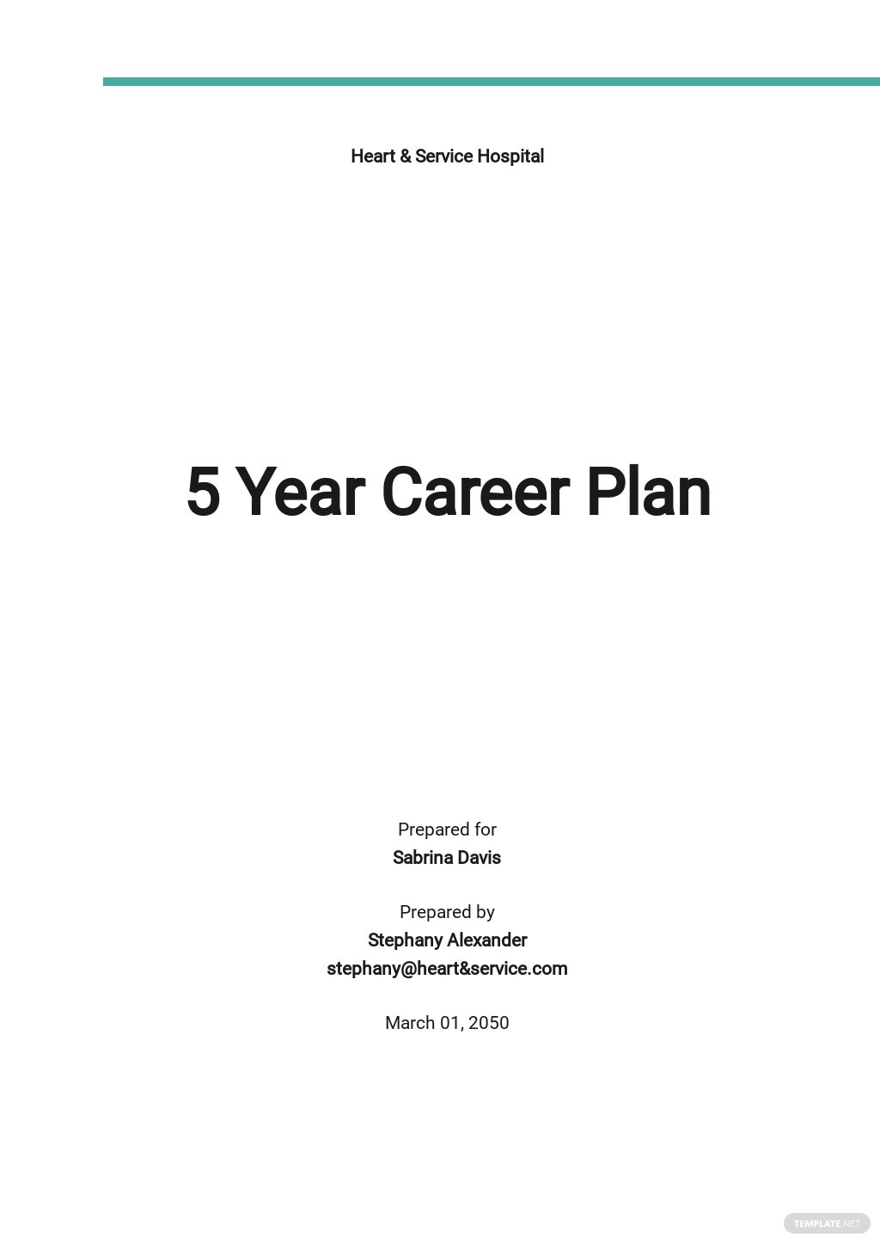 5 Year Career Plan Template.jpe