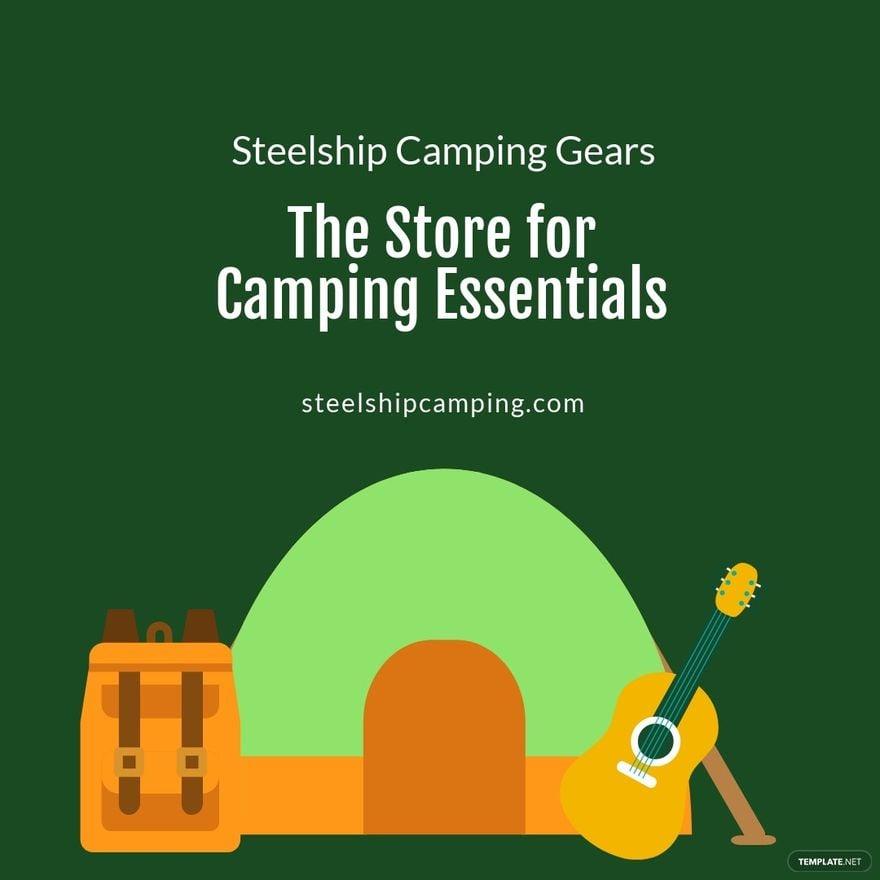 Camping Essentials Instagram Post Template.jpe