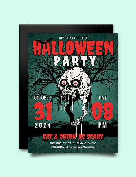 Free Scary Halloween Party Invitation