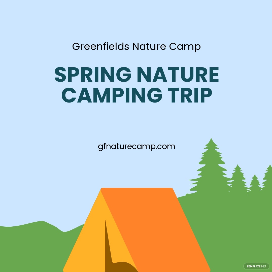 Nature Camping Instagram Post Template.jpe