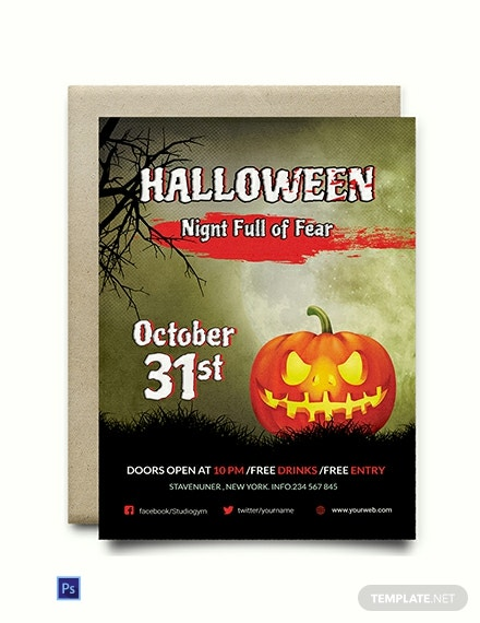 Free Fright Night Halloween Invitation