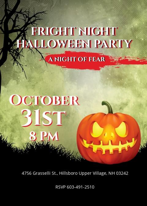 Fright Night Halloween Invitation