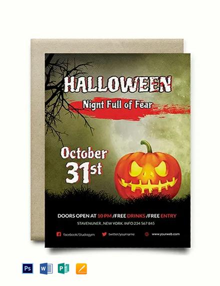 Free Fright Night Halloween Invitation