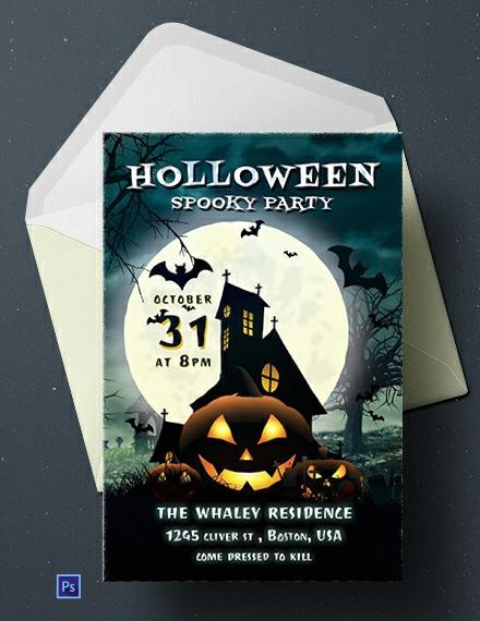 Free Halloween Spooky Party Invitation