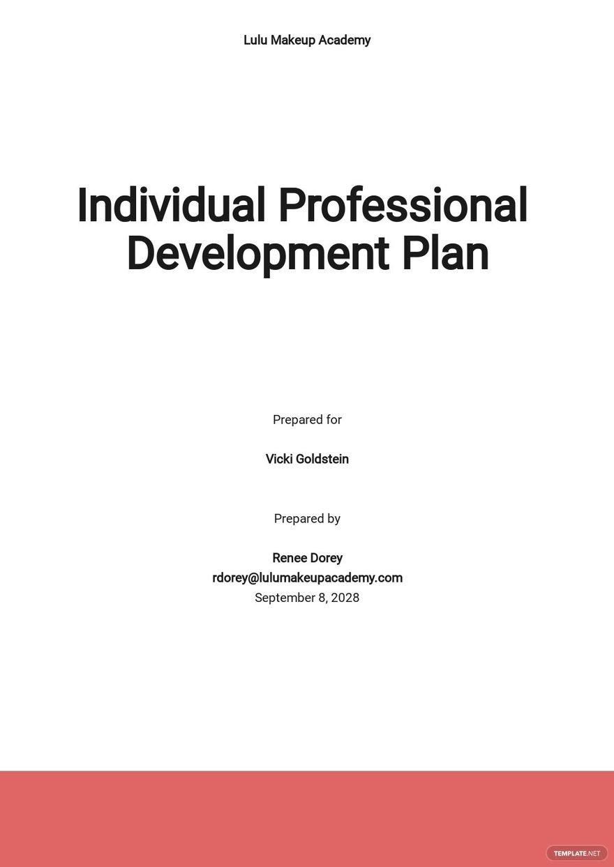 Sample Individual Professional Development Plan Template.jpe