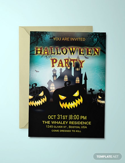 Free Elegant Halloween Party Invitation