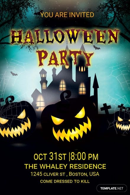 Elegant Halloween Party Invitation
