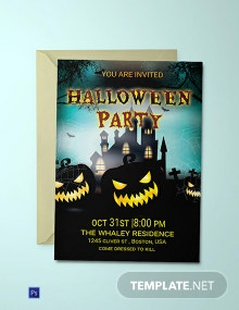 Free Elegant Halloween Party Invitation
