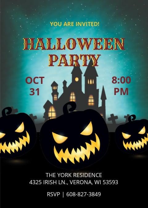 Elegant Halloween Party Invitation