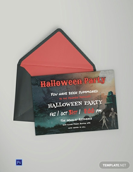 Free Halloween Bash Party Invitation