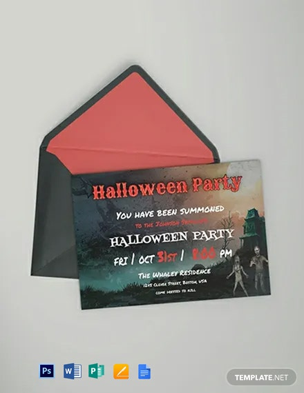 Halloween Bash Party Invitation