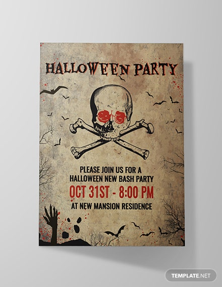Free Creepy Halloween Invitation Template