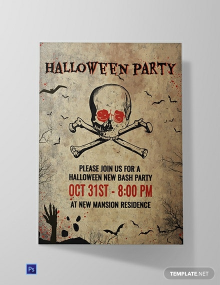 Free Creepy Halloween Invitation Template