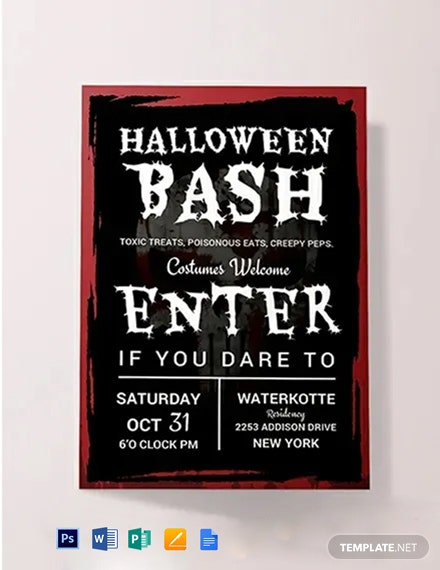 Free Halloween Bash Invitation Sample