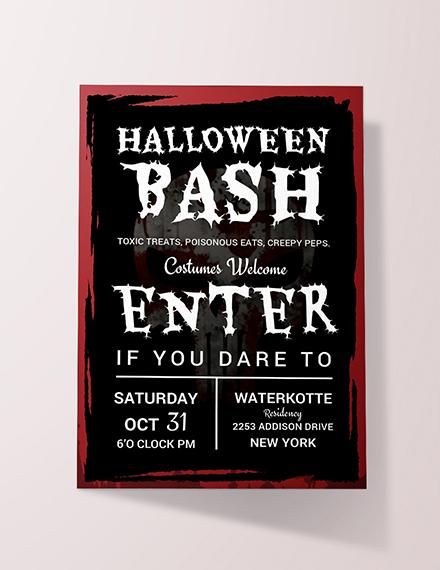Free Halloween Bash Invitation Sample