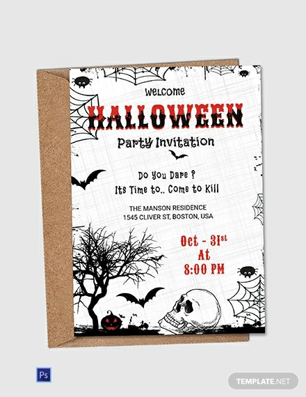 Free Premium Halloween Party Invitation Flyer