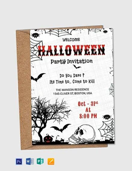 Free Premium Halloween Party Invitation Flyer
