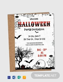 Premium Halloween Party Invitation Flyer Template