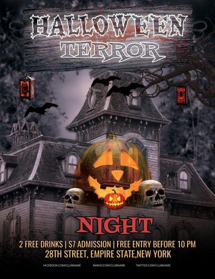 halloween terror night flyer