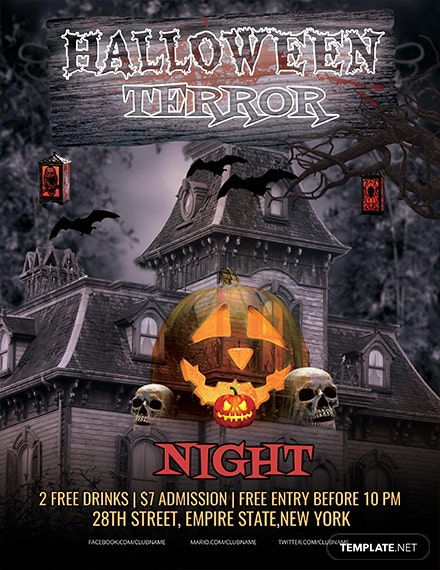 Free Halloween Terror Night Flyer