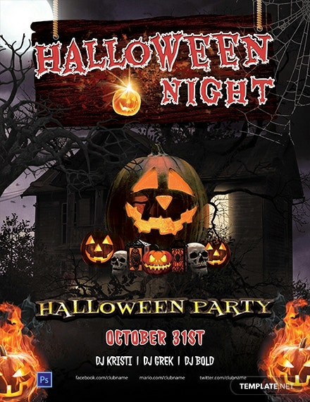 Free Halloween Horror Night Flyer