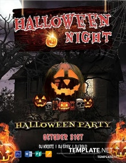 Free Halloween Horror Night Flyer