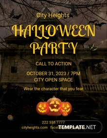 FREE Halloween DJ Party Flyer Template