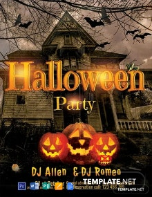 Free Halloween DJ Party Flyer