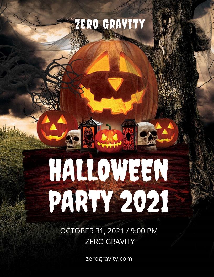 Editable Halloween Party Flyer Template.jpe