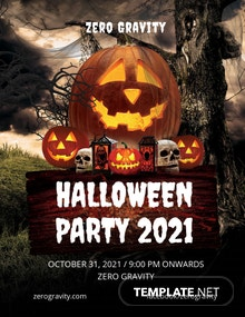 FREE Editable Halloween Party Flyer Template