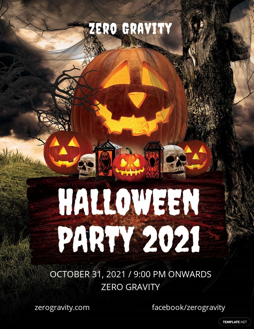 Editable Halloween Party Flyer Template