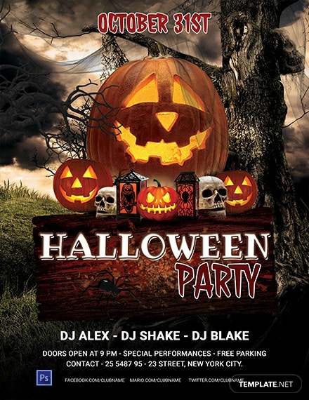 Free Editable Halloween Party Flyer