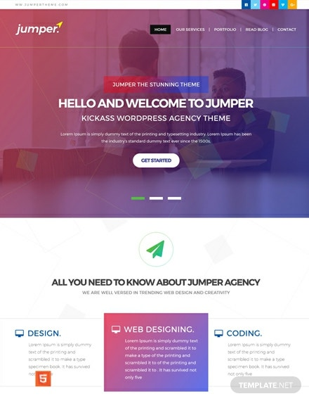 FREE Web Design Agency HTML5/CSS3 Website Template: Download 162+