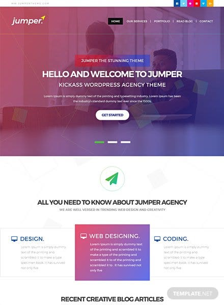 Web Design Agency HTML5/CSS3 Website Template