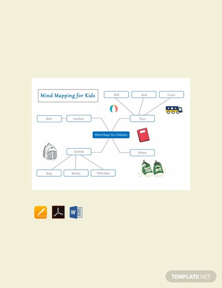 Free Mind Mapping for Kid's Template