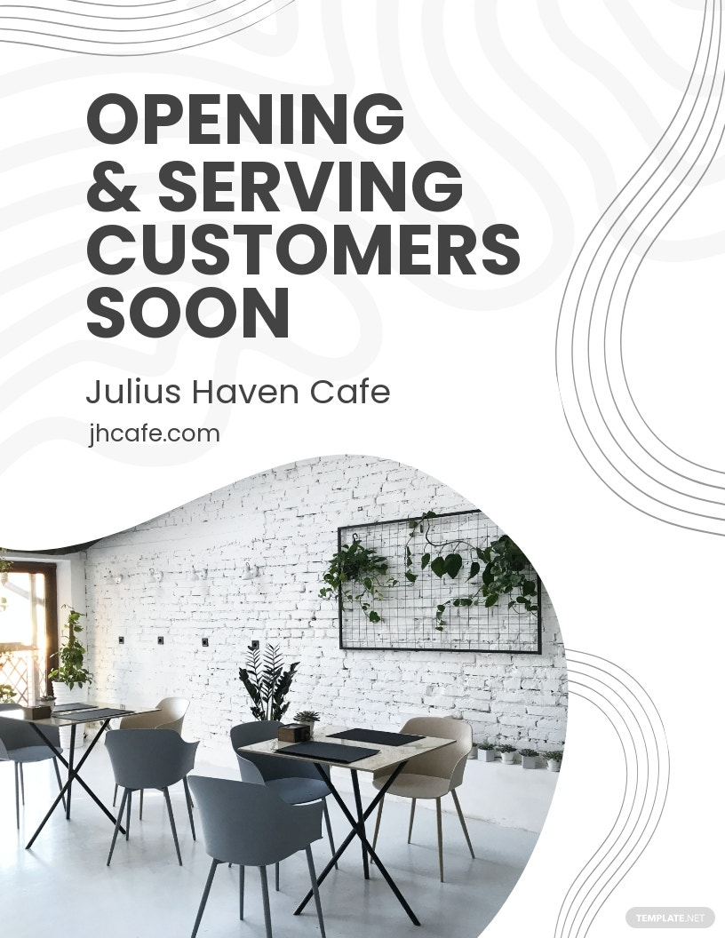 Cafe Opening Announcement Flyer Template