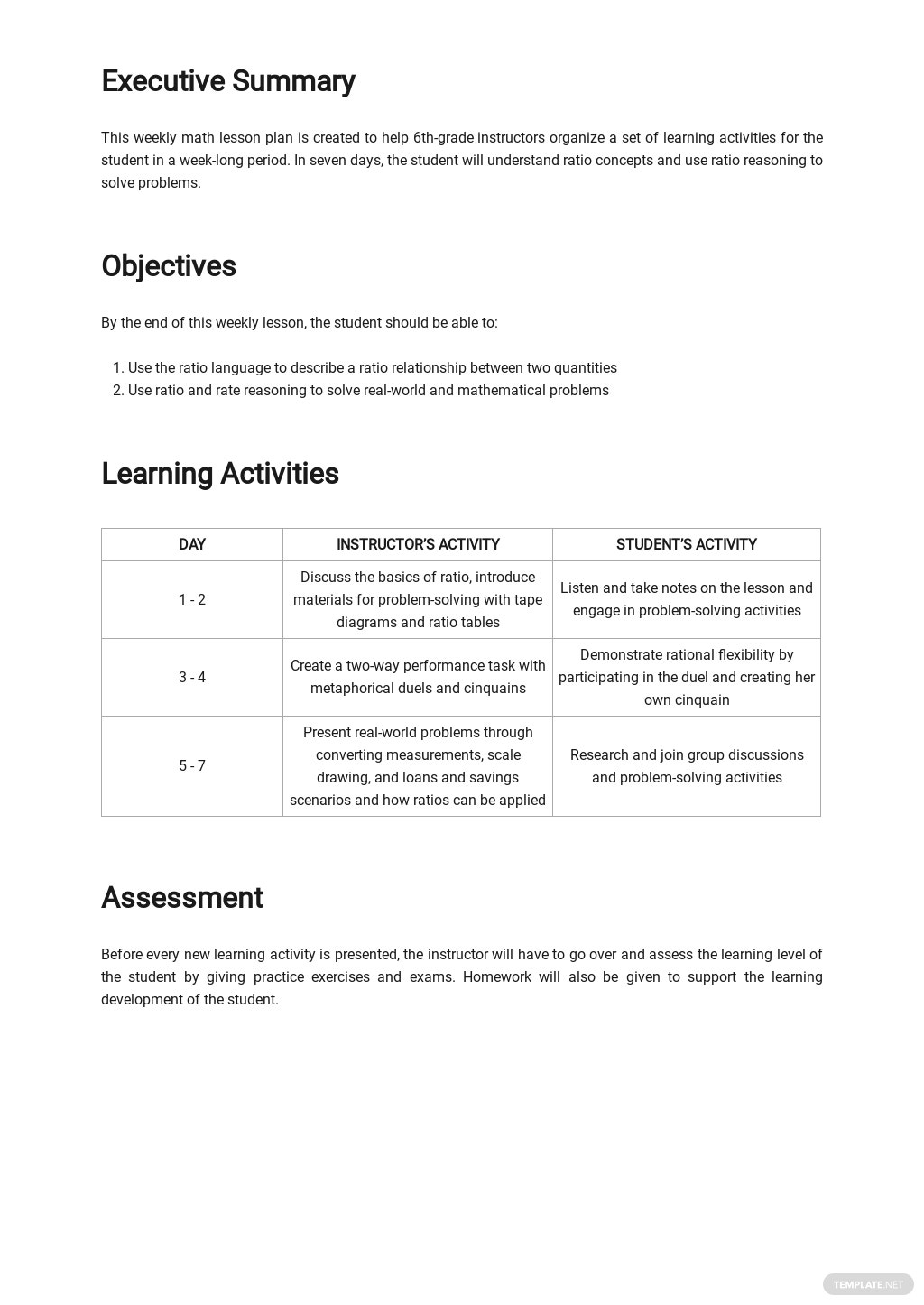 Weekly Math Lesson Plan Template 1.jpe