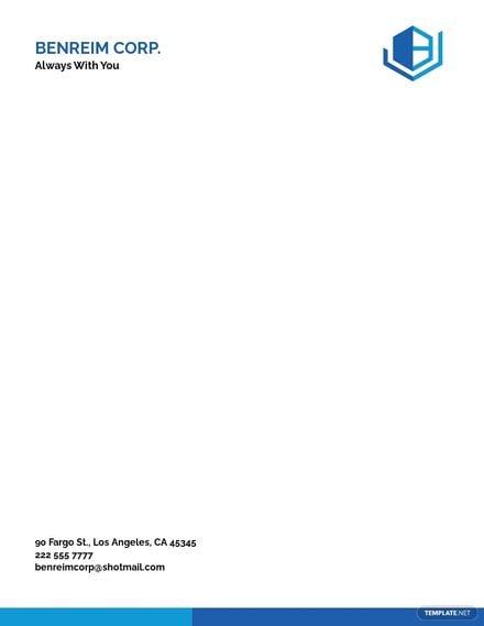 Simple Corporate Letterhead Template.jpe