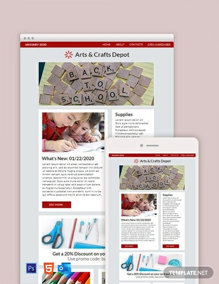 Free Back to school Newsletter Template