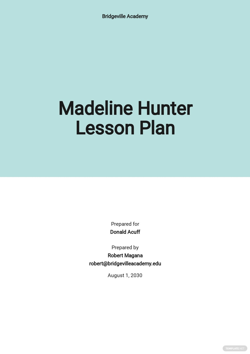 Blank Madeline Hunter Lesson Plan Template.jpe