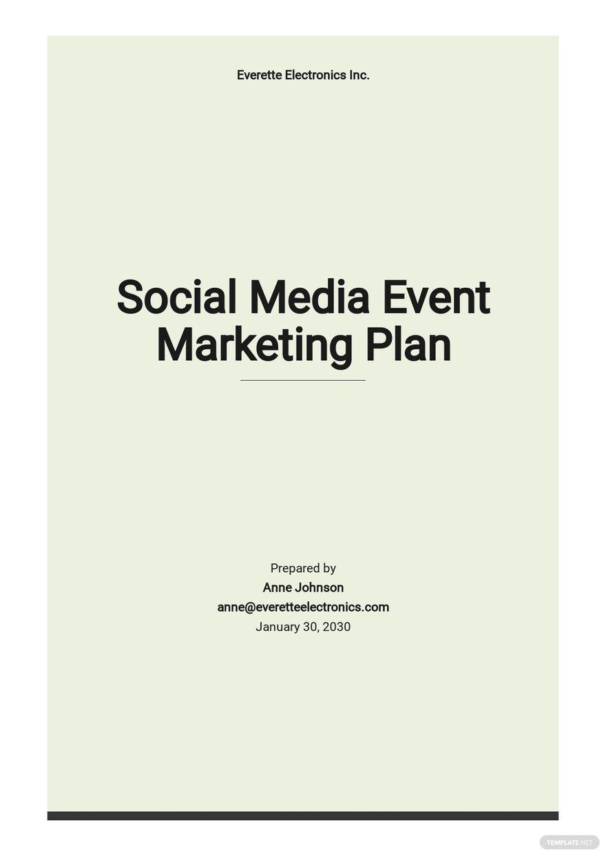 Social Media Event Marketing Plan Template