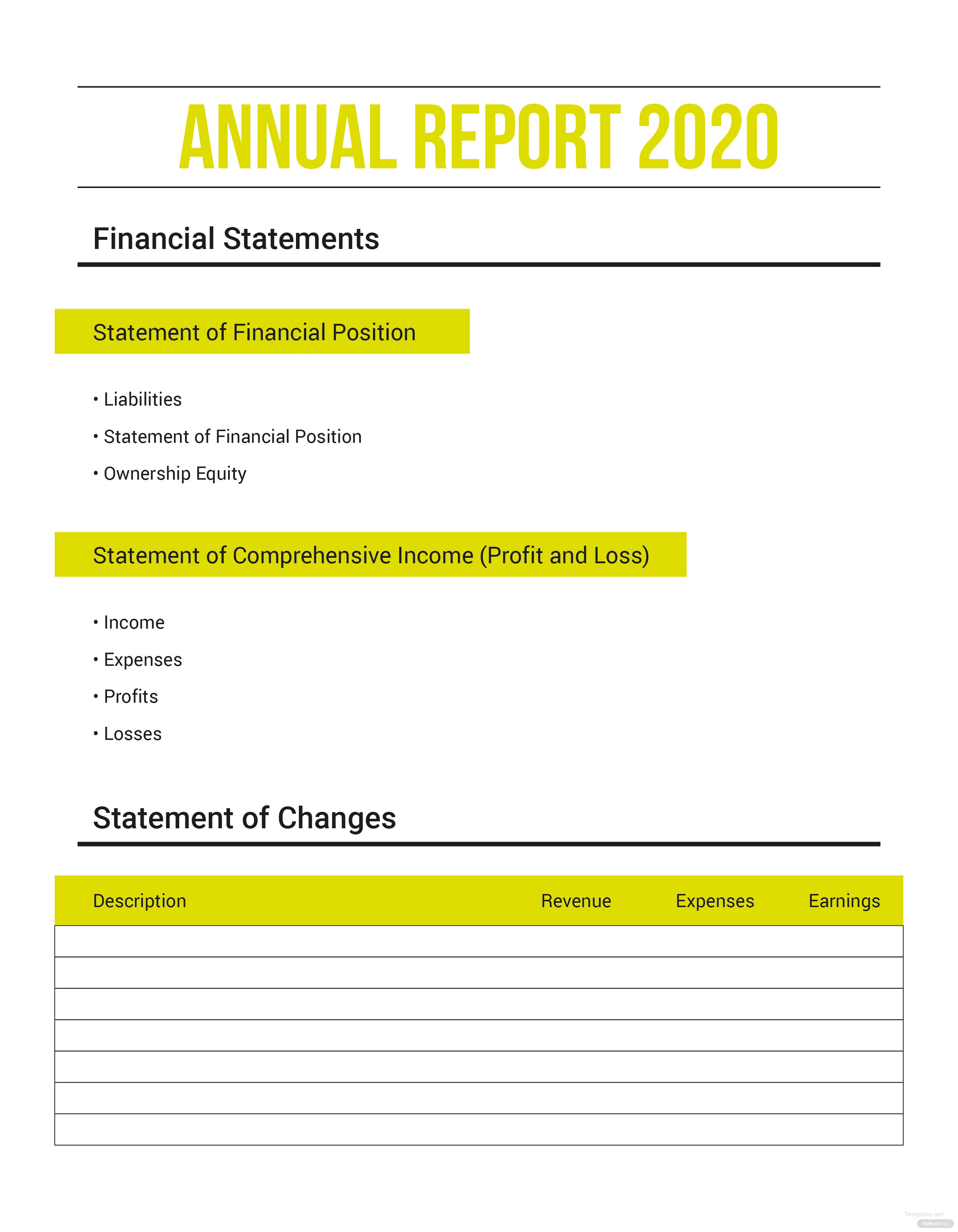 Free Annual Expense Report Template in Microsoft Word Microsoft