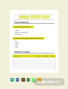 Free Annual Expense Report Template