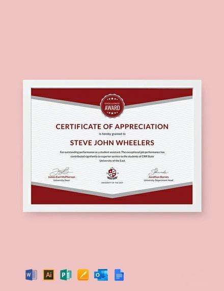 Free Student Appreciation Certificate Template