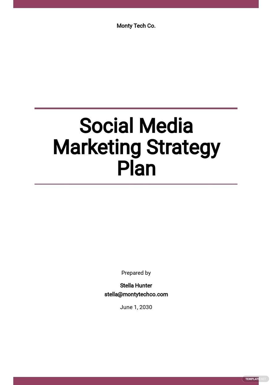 Social Media Marketing Strategy Plan Template