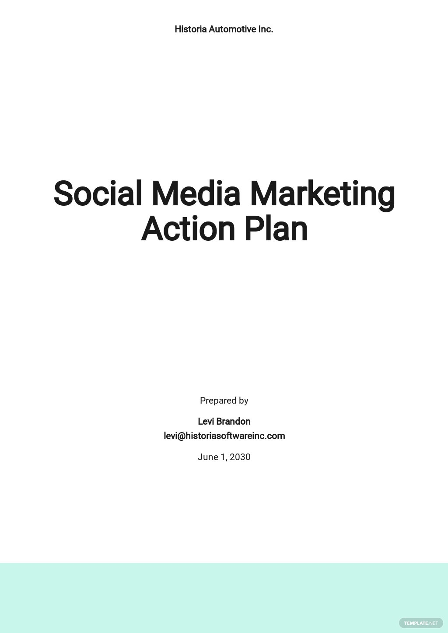 Social Media Marketing Action Plan Template