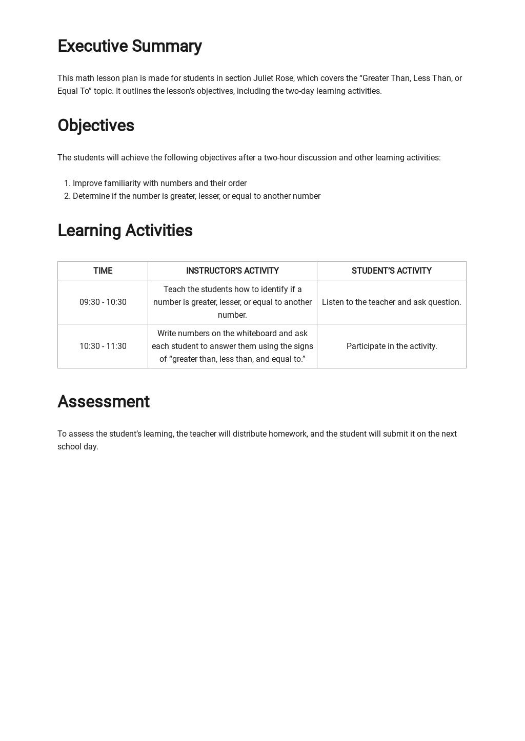 Daily Math Lesson Plan Template 1.jpe