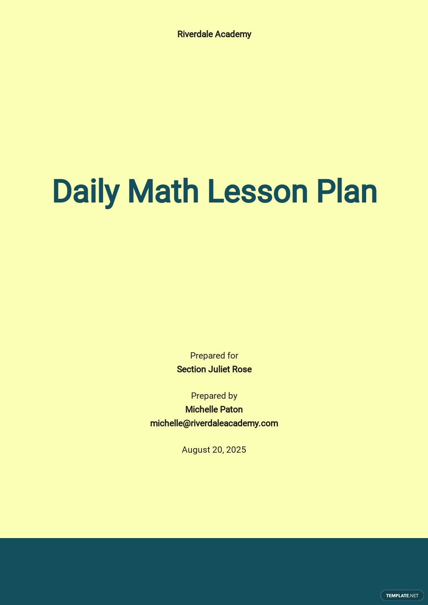Daily Math Lesson Plan Template.jpe