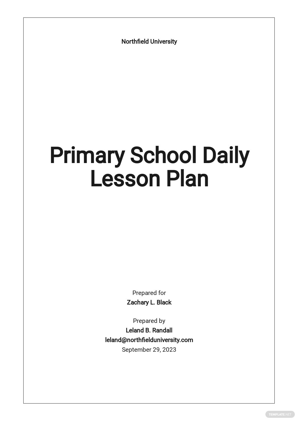 Primary School Daily Lesson Plan Template.jpe