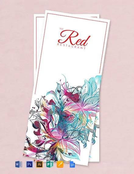 Free Menu Card Template